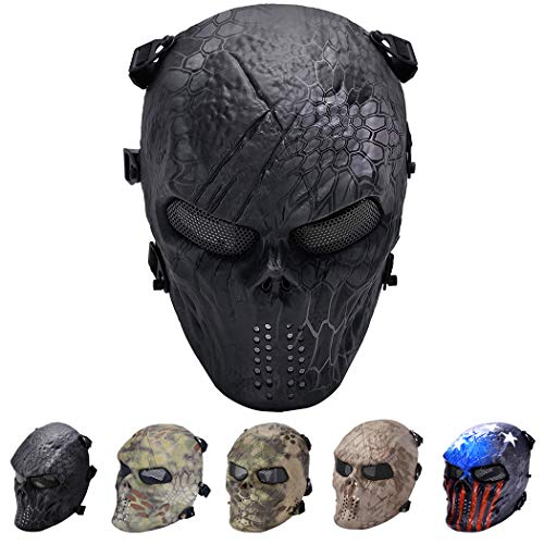 Outgeek Tactical Airsoft Mesh Mask Protective Full Face Costume Mask(Urban) -