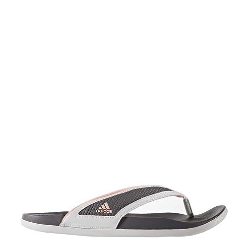 aa7edb294c8550 adidas Adilette Cloudfoam Plus Summer Flipflop Women s Swimming 9  White-Coral-Grey  Amazon.ca  Shoes   Handbags