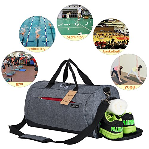 Sports Gym Bag with Shoes Compartment Travel Duffel Bag for Men and Women by Kuston (Image #6)