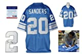 Barry Sanders Signed Detroit Lions Reebok Premier Jersey - Beckett - Autographed w/ Photo