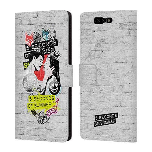 Official 5 Seconds of Summer Vapor Sticker Bomb Leather Book Wallet Case Cover for Xiaomi Black - Shark Accessories Vapor
