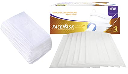 maschera antipolvere bianca