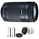 Canon EF-S 55-250mm F4-5.6 IS STM Lens with Accessory Bundle for Canon EOS Rebel T6s , T6i , T5i , T4i and SL1