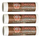 J&D's Bacon Lip Balm - 3 Pack - Flavored Lip Balm Bacon Flavor Chap Stick