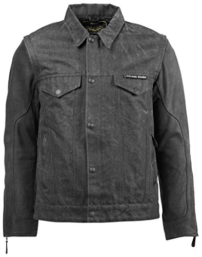 Roland Sands Design Hefe Textile Men's Street Motorcycle Jackets - Black Large (Mens Street Motorcycle Jackets)