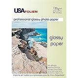 Papel Fotografico Inkjet A4 Glossy Profissional 135G Cx.C/50 Usa - Folien Brasil