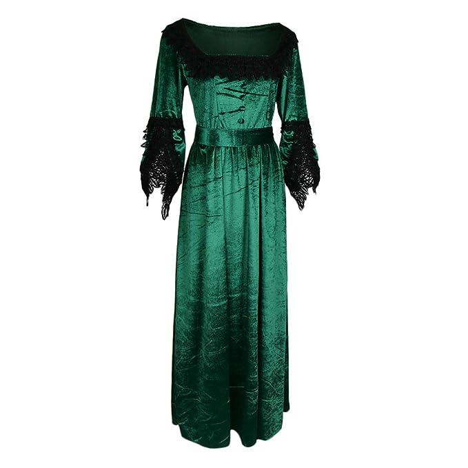 B Baosity Vestido Renacimiento Traje Victoriano Medieval Mujeres ...