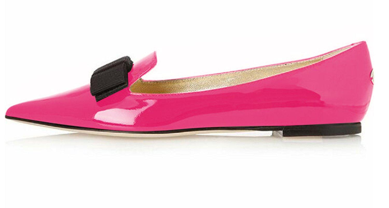 Eldof Women's Flats, Pointed Toe Flats Pumps, Patent Leather Flats Pumps, Walking Dress Office Classic Comfortable Flats B07DHKCFT3 7.5 B(M) US|Rose