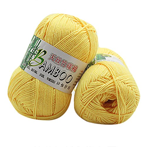 Vibola Baby Knitting Yarn Single Ball Bamboo Cotton Warm Soft Yarn for Crochet & Knitting Multi Pack Variety 50g (E) ()