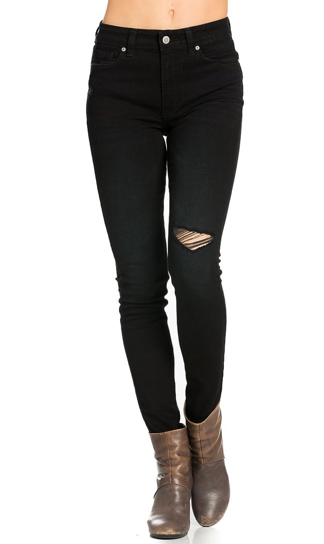 Bella High Rise Skinny Jeans in Black