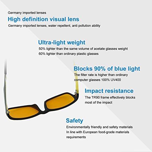 1bb0098956 Glasses for Video Games Duco 223 PRO Anti-Glare Protection Anti-Fatigue  Anti UV