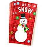 Christmas Money or Gift Card Holder Cards - Set of 8 with Metallic/Glitter Accents (Let it Snow 2018)
