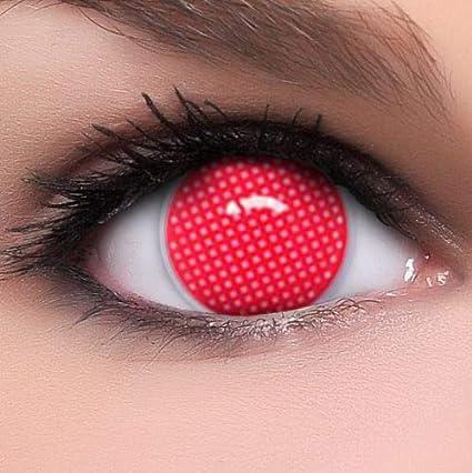 Phantasy Eyes ®Lentilles de Contact de couleur rouge - Halloween, Fantaisie Crazy  Lens ( 789208a3b39c