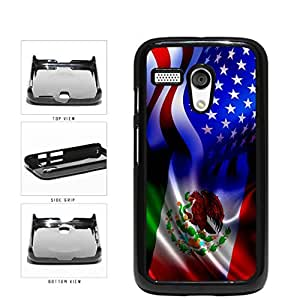 Mexico and USA Mixed Flag Plastic Phone Case Back Cover Moto G