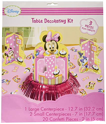 Minnie Mouse Table Decorations Ideas (Disney Minnie 1st Birthday Value Table Decorating)