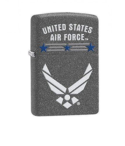 (U.S. Air Force Zippo Outdoor Indoor Windproof Lighter Free Custom Personalized Engraved Message Permanent Lifetime Engraving on Backside (Style4))