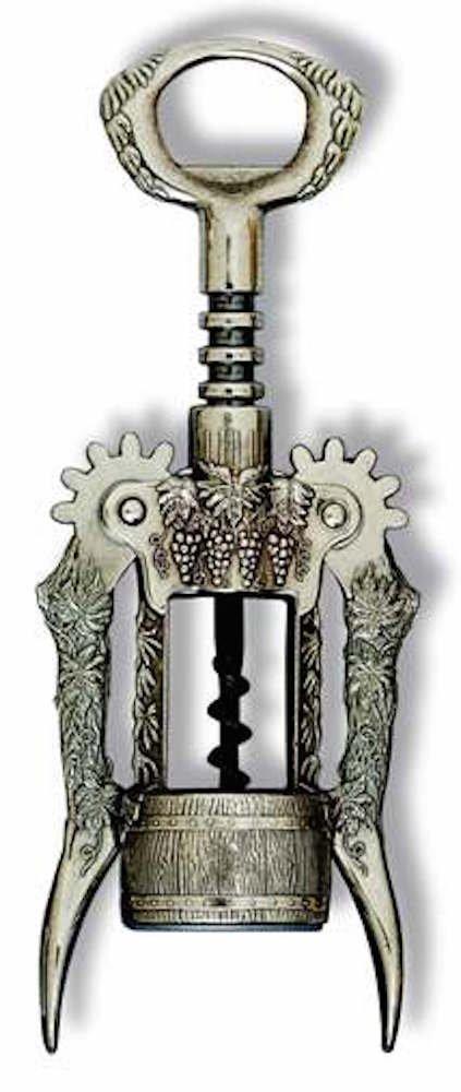 BOTTICELLO - GRAPE DESIGN Steel Wing Corkscrew, Italy by Ghidini Italy