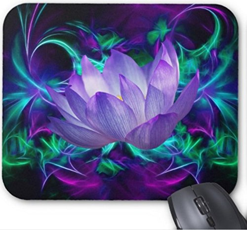 Gaming Mouse Pad Purple Lotus Flower and its Meaning Design for Desktop and Laptop 1 Pack 22x18cm/8.66x7in