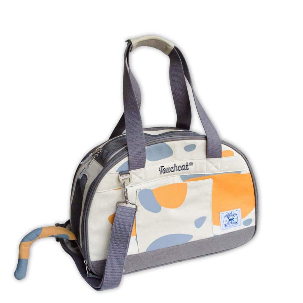 GLMAMK Nylon Pet Bag, Portable Hand Single Shoulder Backpack, Outing Pet Sling Carrier (Colore: Bianco, Dimensione: 16 -One spalla)