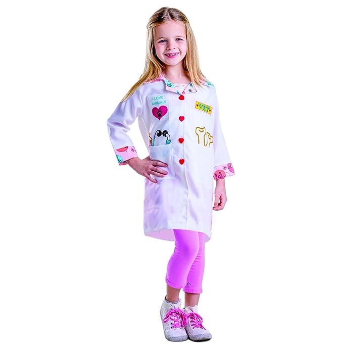 Dress up America Disfraz de pequeña niña veterinaria: Amazon.es: Juguetes y juegos