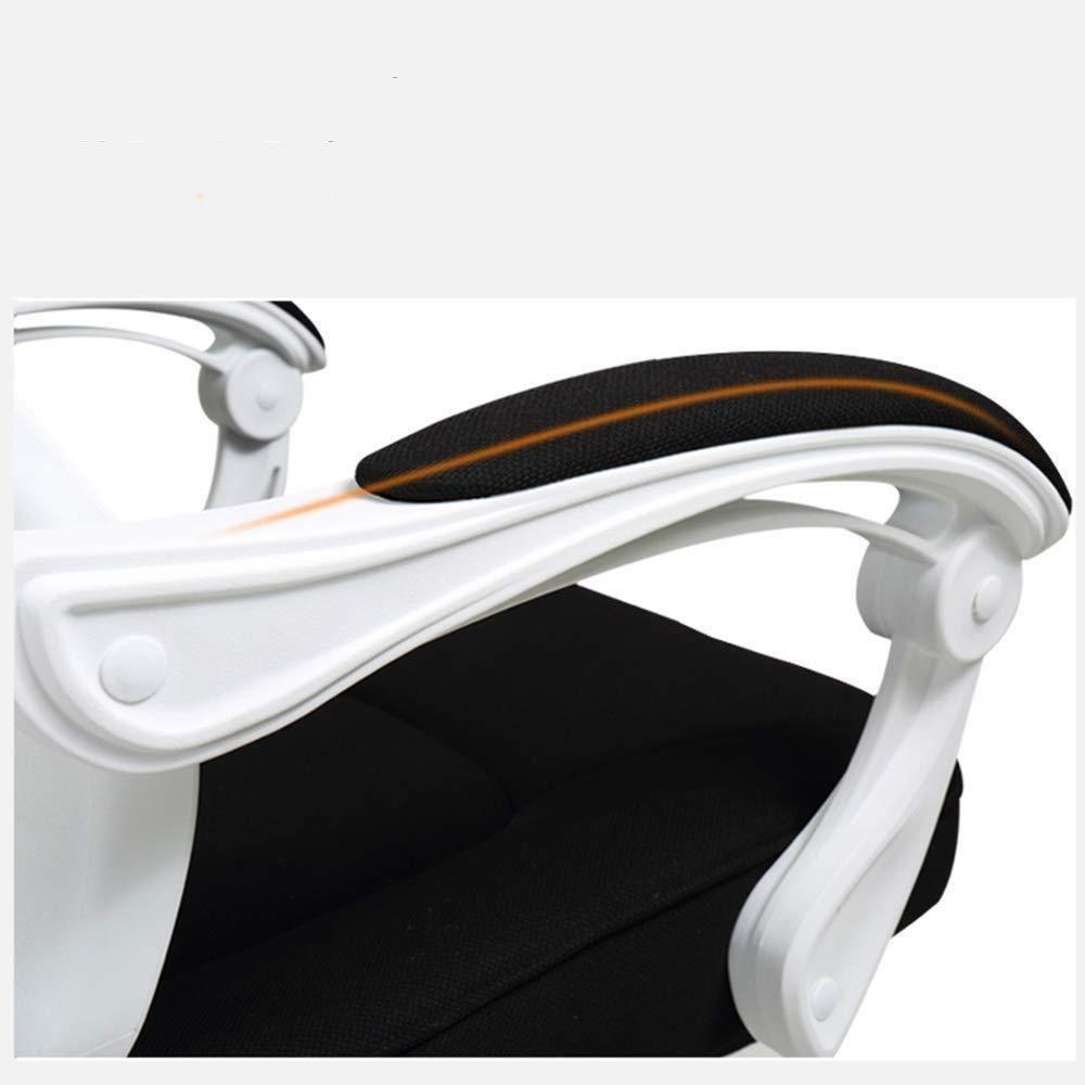 Barstolar Xiuyun ergonomisk kontorsstol datorstol hög rygg nät skrivbordsstol brett nackstöd förtjockad kudde länkarmstöd bärvikt 200 kg 2 färger (färg: svart) Svart