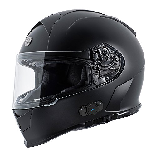 TORC T14B Bluetooth Integrated Mako Full Face Motorcycle Helmet (Flat Black)