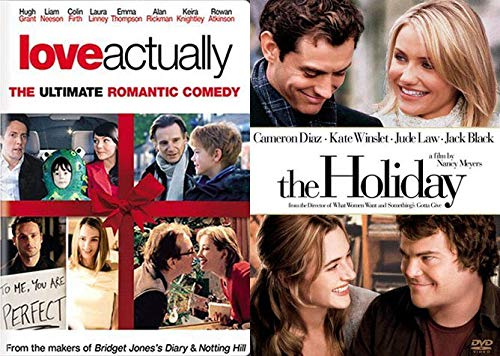 Amazon Com The Romantic Holiday Cast Double Comedy Set Love Actually The Holiday Dvd Warm Fuzzy Bundle 2 Feature Films Hugh Grant Liam Neeson Jude Law Cameron Diaz Nancy Meyers Movies