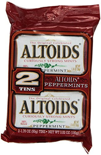 Altoids Twin Pack Mints, Peppermints 2 tins (Twin Mints Pack)