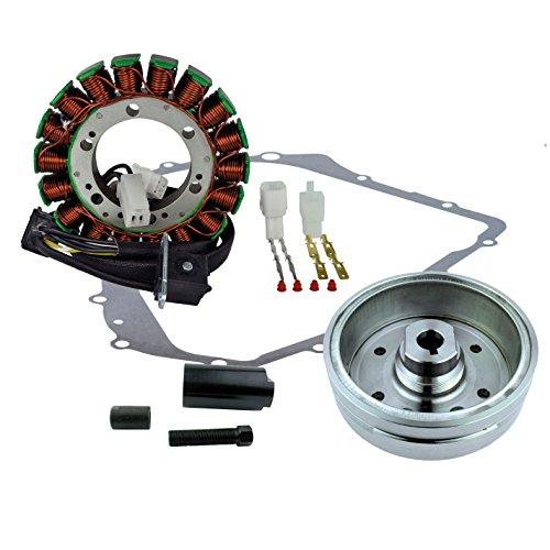 Kit Improved Flywheel + Flywheel Puller + Stator + Crankcase Cover Gasket For Arctic Cat 400 Auto 2002 2003 2004 2005 2006 2007 2008