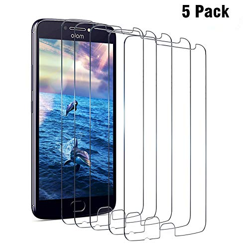 Moto Z Play Screen Protector, Moto Z Play Droid Alluremake (5 Packs) Moto Z Play/Moto Z Play Droid Tempered Glass Screen Protector for Motorola Z Play/Z Play Droid [VALUE-PACK]
