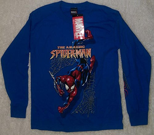 Amazing Spider-Man Long Sleeve Adult Medium Shirt Mad Engine