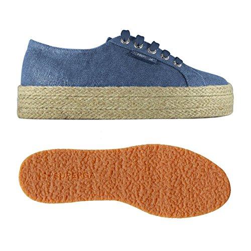 Piattaforma S00C4Y0 con silver A50 Blue Donna 2730 SUPERGA Sneakers Scarpe PwZxg7qf
