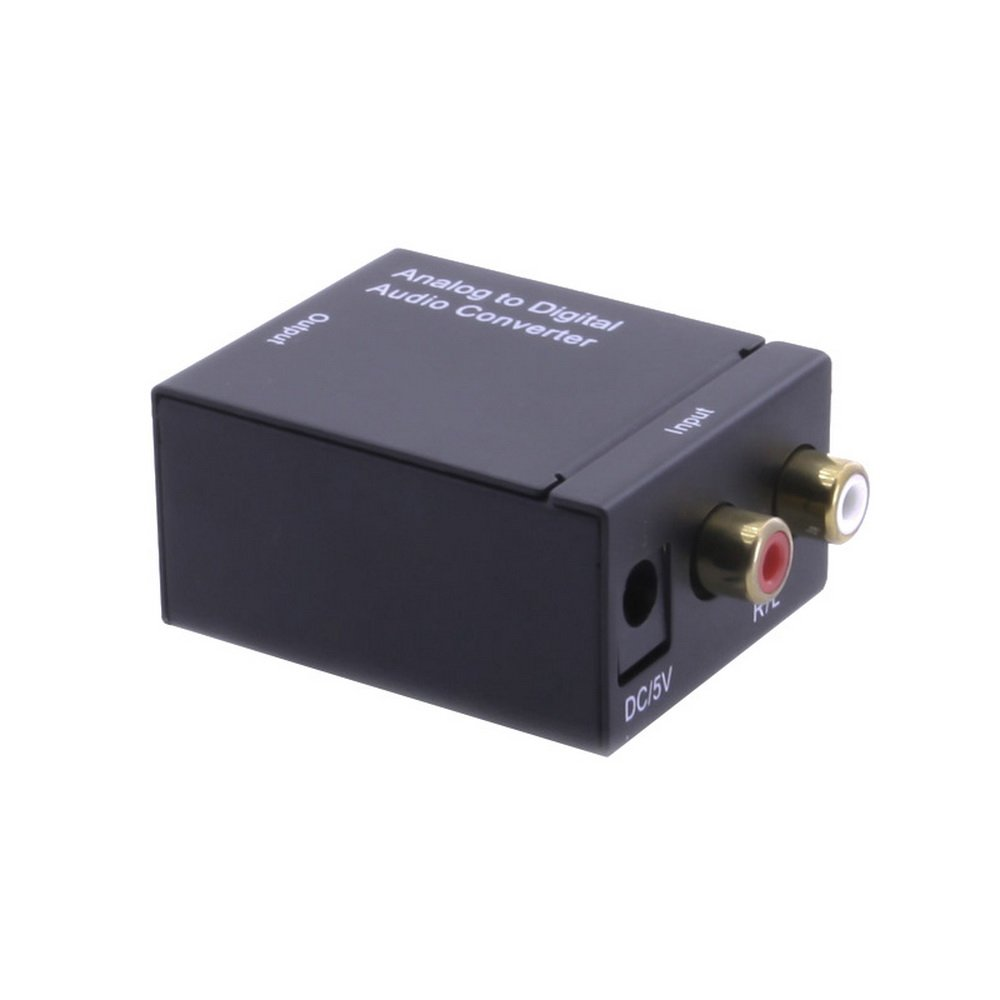 axGear Analog RCA L-R to Digital Optical Coaxial Toslink Audio Converter Adapter RCA-OPT
