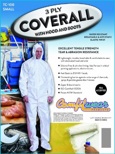 3 Ply Coverall Suit, with Hood and Boots, Size 3-xlarge {25 Pcs}