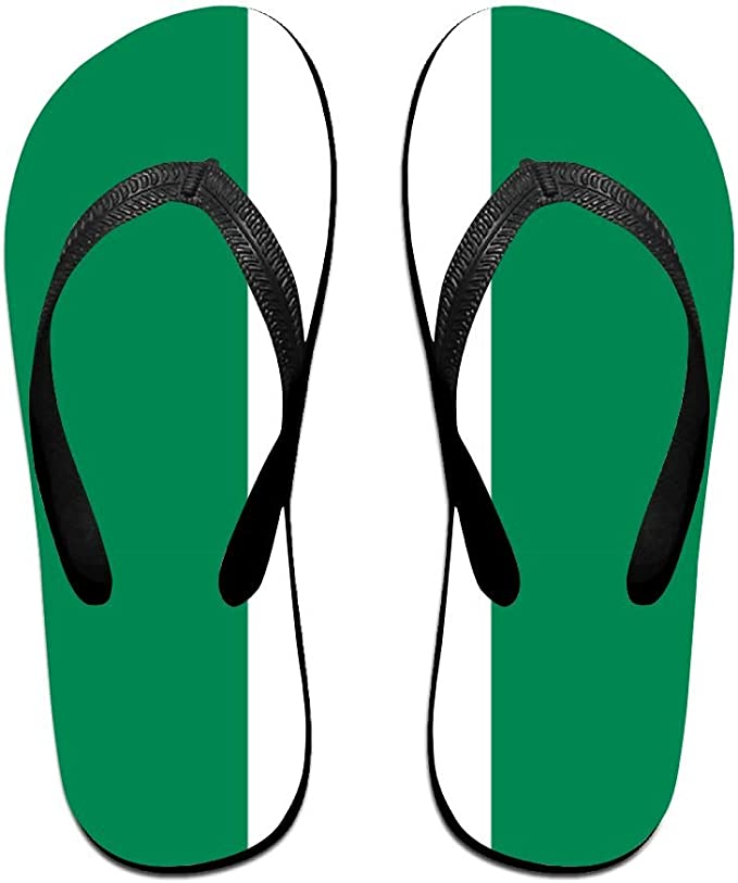 online shop detailed look running shoes Amazon.com: Flag Of Nigeria Comfortable Flip Flops For ...
