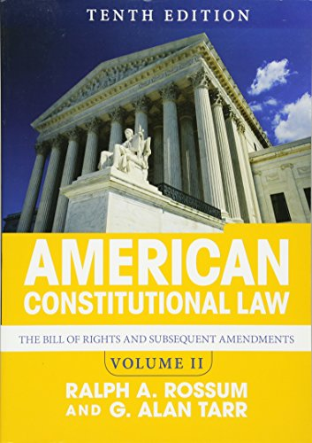 813349974 - 2: American Constitutional Law, Volume II: The Bill of Rights and Subsequent Amendments