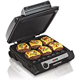 Hamilton Beach Home Environment Hamiton Beach (25600) Smokeless Indoor Grill & Electric Griddle Combo with Bacon Cooker & Removable Plates, 040094256006, Gray