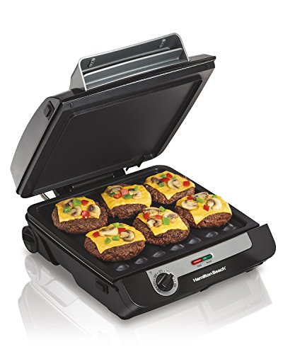 [Hamilton Beach 3-in-1 MultiGrill Indoor Grill, Griddle & Bacon Cooker (25600)] (1 Griddle Plate)