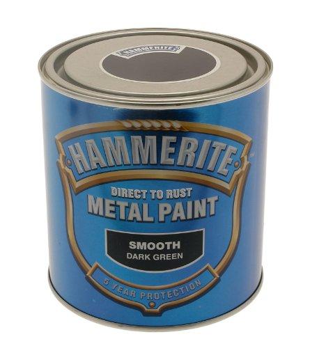 Hammerite 5084889 Ham6722901 250Ml Metal Paint - Smooth Dark Green ()