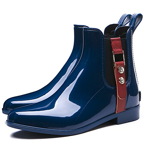 Women's Fashion TONGPU Boots Ankle Navy Rain ga5xH5qd