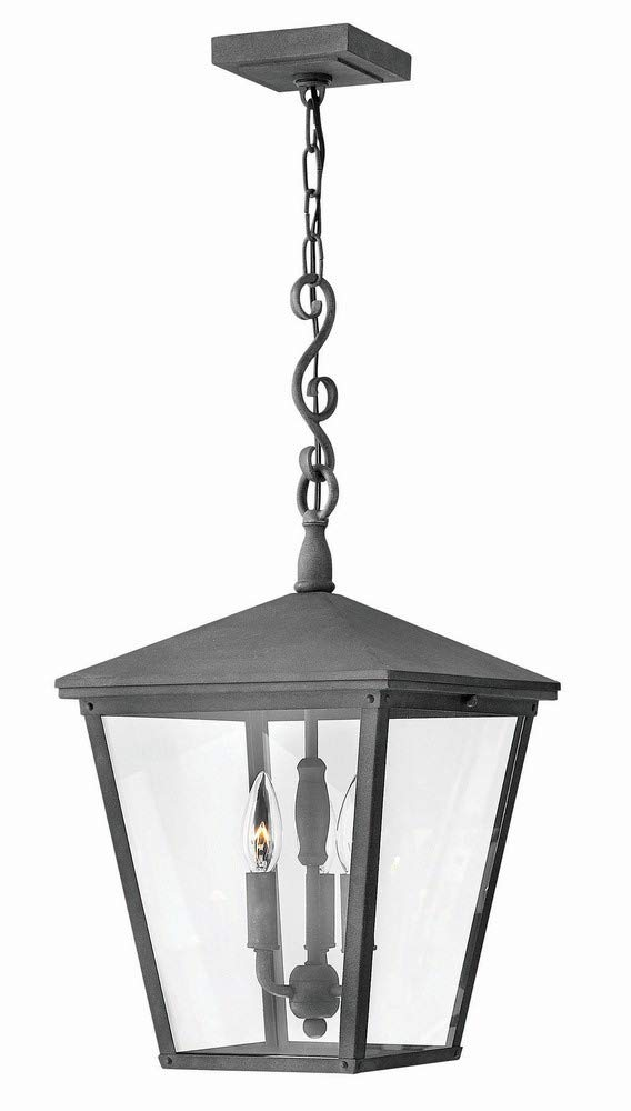 Hinkley 1432DZ Transitional Three Light Outdoor Hanging from Trellis collection in Bronze/Darkfinish,