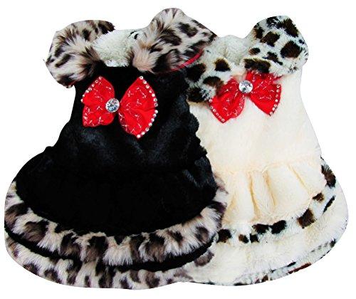 Woo Woo Pets New Arrival Elegant Fur Winter Dog Coat Pet Dress White - Coat Dog Dress Pet