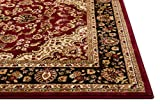 Well Woven Barclay Medallion Kashan Red Traditional