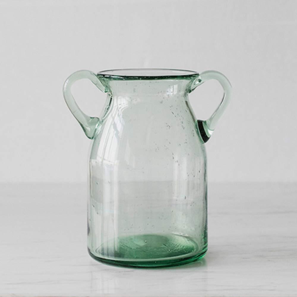 色ガラス花瓶用花緑植物結婚式の植木鉢装飾ホームオフィスデスク花瓶花バスケットフロア花瓶クリスタル (サイズ さいず : M m) B07R48M9KR  M m