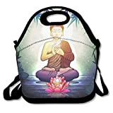 Buddha In Meditation Extra Large Insulated Lunch Box Food Bag