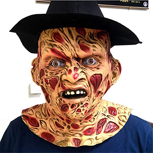 TTXST Halloween Mask Bloody Classic Freddy Horror Freddy Latex Mask Headgear (Mask/Headpiece)