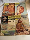 4 CLASSICS ILLUSTRATED COMICS ATOMIC AGE CRUSOE MOHICIANS COUNT 1ST EDITIONS