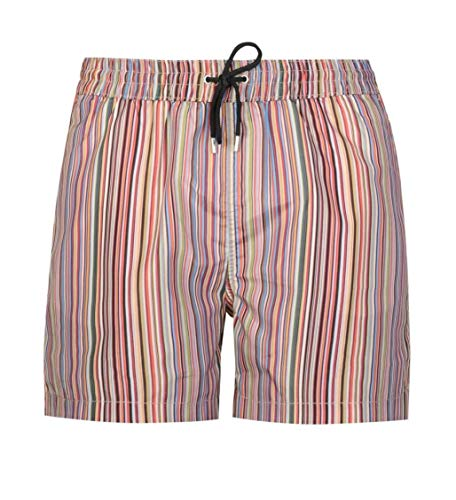 Paul Smith Men's 'Signature Stripe' Print Swim Shorts (S)
