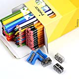 Office&Home Stationery Writing Set 101 Count Super Value mixed with 36#2 HB Yellow Pencils, 36 Color Pencils Super Thick Lead 4mm, 24 Super Tips Watercolor Markers and 5 FREE Sharpeners