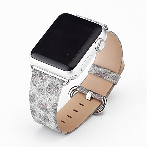 Apple Watch Band, Seetwo Extreme Deluxe Bling Glitter Lea...